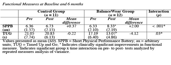 Balance-based torso-weighting intervention impact on functional mobility among older adults with impaired mobility – a pilot study