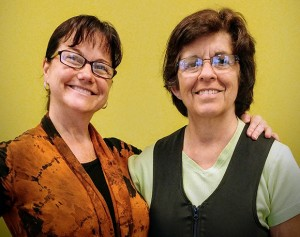 From a walker to cane, to walking, and now running on a treadmill: Darlene and her BalanceWear therapist Nathalie Grondin, PT.